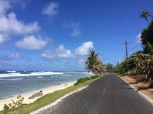 "The ""Main Road"" in American Samoa."