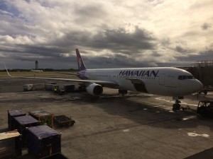 Waiting to board 767-300ER from HNL to PPG.