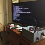 We live in the future:  Raspberry Pi computer plugged into hotel TV.