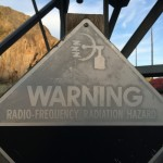 RF warning at White Alice site.  I resisted the urge to steal this sign.